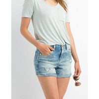 "Refuge ""Girlfriend"" Denim Shorts"
