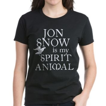 JON SNOW IS MY SPIRIT ANIMAL Women's Favorite Tee> JON SNOW IS MY SPIRIT ANIMAL> Scarebaby Design