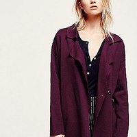 Free People Womens Slouchy Sweater Jacket