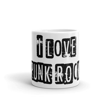 I Love Punk Rock Coffee Mug