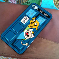 ADVENTURE TIME TARDIS  for iPhone 4 case iphone by WhiteBoardArt
