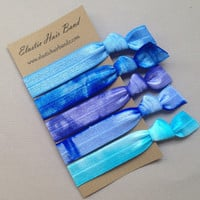 The Blue Sea Hair Tie Collection - 5 Elastic Hair Ties