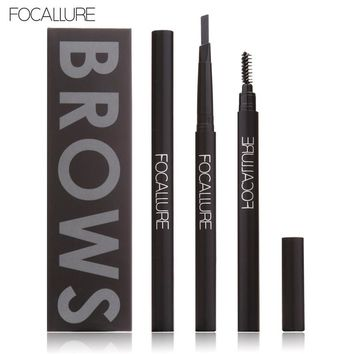 FOCALLURE Eyebrow Pencil Makeup Waterproof Long-lasting Eye Brow Pencil Beauty Makeup Cosmetics Eyebrow Makeup Tools 3 Color