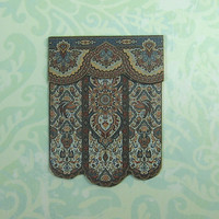 Dollhouse Miniature Blue Multi Tapestry Print Wall Hanging