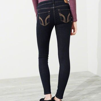 Womens Hollister Stretch Low-Rise Super Skinny Jeans