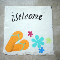 Flip Flip sign hand painted antique slate custom personalized