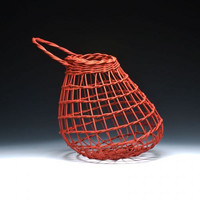 Red onion basket by JustaBunchofBaskets on Etsy