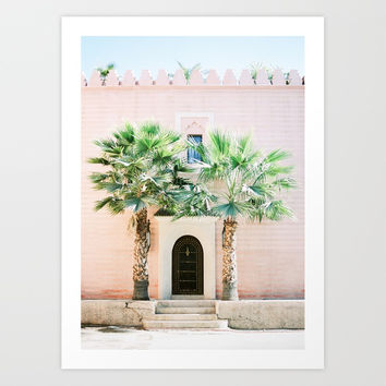 "Travel photography print ""Magical Marrakech"" photo art made in Morocco. Pastel colored. Art Print by raisazwart"