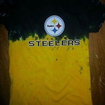 PITTSBURGH STEELERS WOMENS JUNIORS PETITE Tie Dye T-Shirt NFL 631c5a8b9