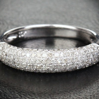 Diamond Wedding Band Engagement Ring 14K White Gold Popular .45ctw