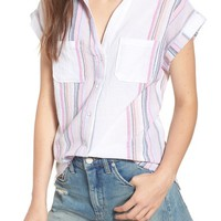 Love, Fire Stripe Camp Shirt | Nordstrom