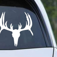 Buck Hunting Skull With Rack HNT1-40 Die Cut Vinyl Decal Sticker