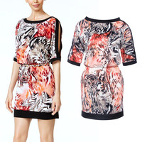 Summer Stylish Hot Sale Strapless Print Mini One Piece Dress [6461448705]