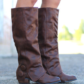 Not Rated: Bailey Riding Boots {Tan}