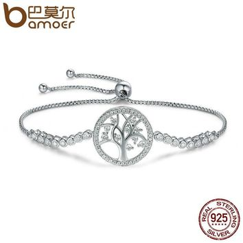 BAMOER Sterling Silver Tree of Life Tennis Bracelet