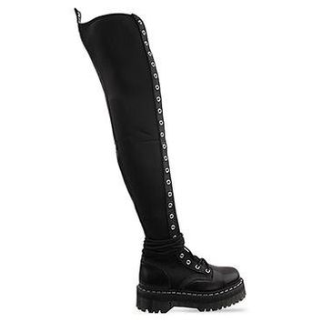 Agyness Deyn X Dr. Martens Aggy Tall in Black at Solestruck.com