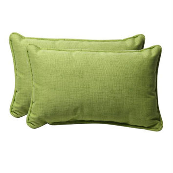 2 Throw Pillows - Green