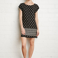 Diamond Print Shift Dress