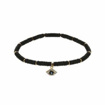 Sequin Eye Choker - Black