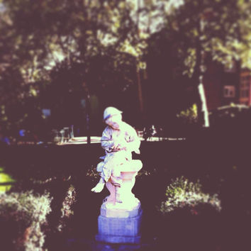 Garden Photography | Fine Art Photography | London England | Statue | Botanical Photo | Whimsical | Home Decor | Elegant Photo
