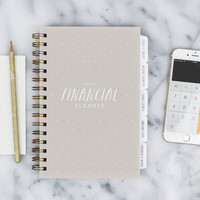 Financial Planner – 12-month Fill-in the Date Planner for saving, budgeting and planning ahead in Oatmeal