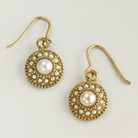 Pearl and Gold Drop Earrings - World Market
