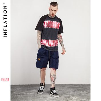 HCXX INFLATION 2017 Summer Tie Dye Striped Crewneck Short Sleeve T