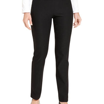 Charter Club Petite Tummy-Control Slim-Leg Pants, Only at Macy's | macys.com