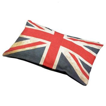 Vintage Union Jack British Flag Small Dog Bed