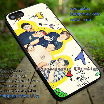 5 Seconds of Summer Punk Rock iPhone 6s 6 6s+ 5c 5s Cases Samsung Galaxy s5 s6 Edge+ NOTE 5 4 3 #music #5sos dt