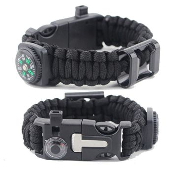 For women Multi-function Bracelets Charm Survival Paracord Bracelet Rope Chain Outdoor Camping Hiking personal Survival Buckle