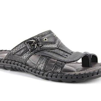New Men's Jammy-02 Slip Faux Alligator Slip On Sandals