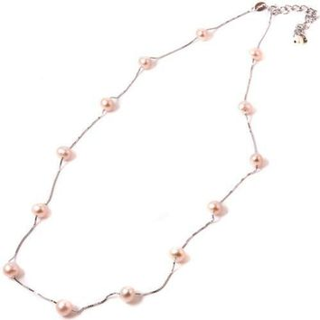 Uptown Sterling Silver Cultured Pearl Necklace