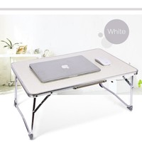 1PC White Multifunctional Light Foldable Table Dormitory Bed Notebook Small Desk