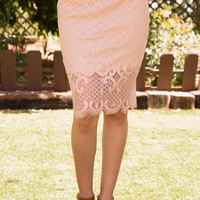 New Romance Lace Pencil Skirt