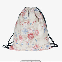 Floral Drawstring Backpack/Bag