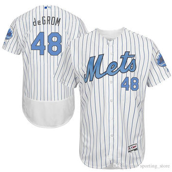 Mets #48 Degrom Top Selling Baseball Jerseys New Collection Brand Baseball Wears Professional Outdoor Apparel