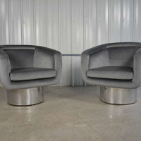 Leon Rosen for Pace Swivel Lounge Chairs