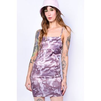 Armed To the Teeth Camo Print Dress