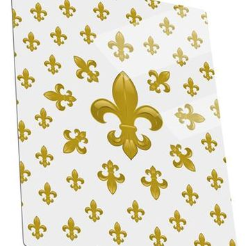 Gold Fleur De Lis AOP Metal Panel Wall Art Portrait - Choose Size by TooLoud