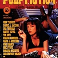 Pulp Fiction - Movie Score College Dorm Poster - Fun Pulp Fiction themed dorm room poster shows famous scene from action movie