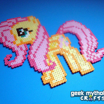 Fluttershy - My Little Pony Friendship is Magic - Perler Bead Sprite