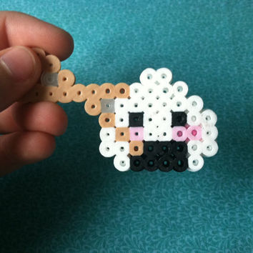 Rice Ball or Sushi with Chopsticks Magnet or keychain: Perler Bead Riceball Magnet