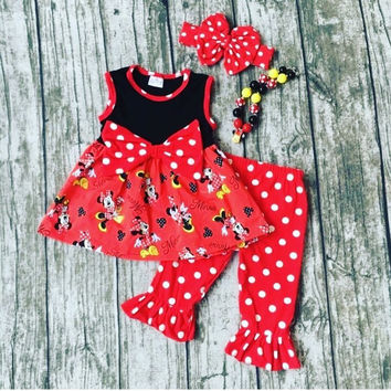 Minnie Mouse Bows and Polka Dots Outfit