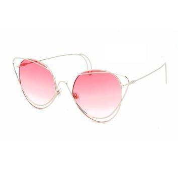 ROYAL GIRL Women Sunglasses metal Circel Cat eye Sun glasses