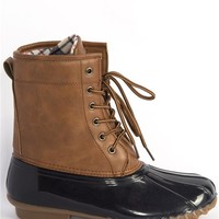 Colorblock Duck Boots