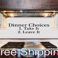DINNER CHOICES wall vinyl sticker decal kitchen decor cook art Free Shipping