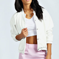 Esther PU Bomber Jacket
