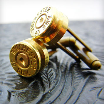 Upcycled Winchester Bullet Cufflinks