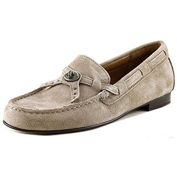 Coach Women's Kara Loafer Suede Stone Shoes